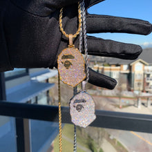 Load image into Gallery viewer, MP Bape Cz diamonds bigger pendant & necklace