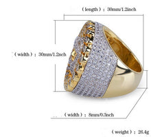 Load image into Gallery viewer, MP Jesus Piece cz diamond mega ring