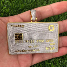 Load image into Gallery viewer, MP iced out Jackboy Huncho Credit card pendant & necklace