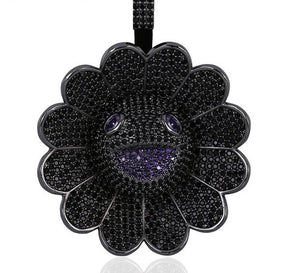 MP iced out Takashi Murakami CZ diamond spinning pendant & necklace