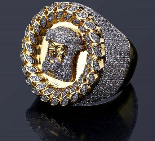 MP Jesus Piece cz diamond mega ring