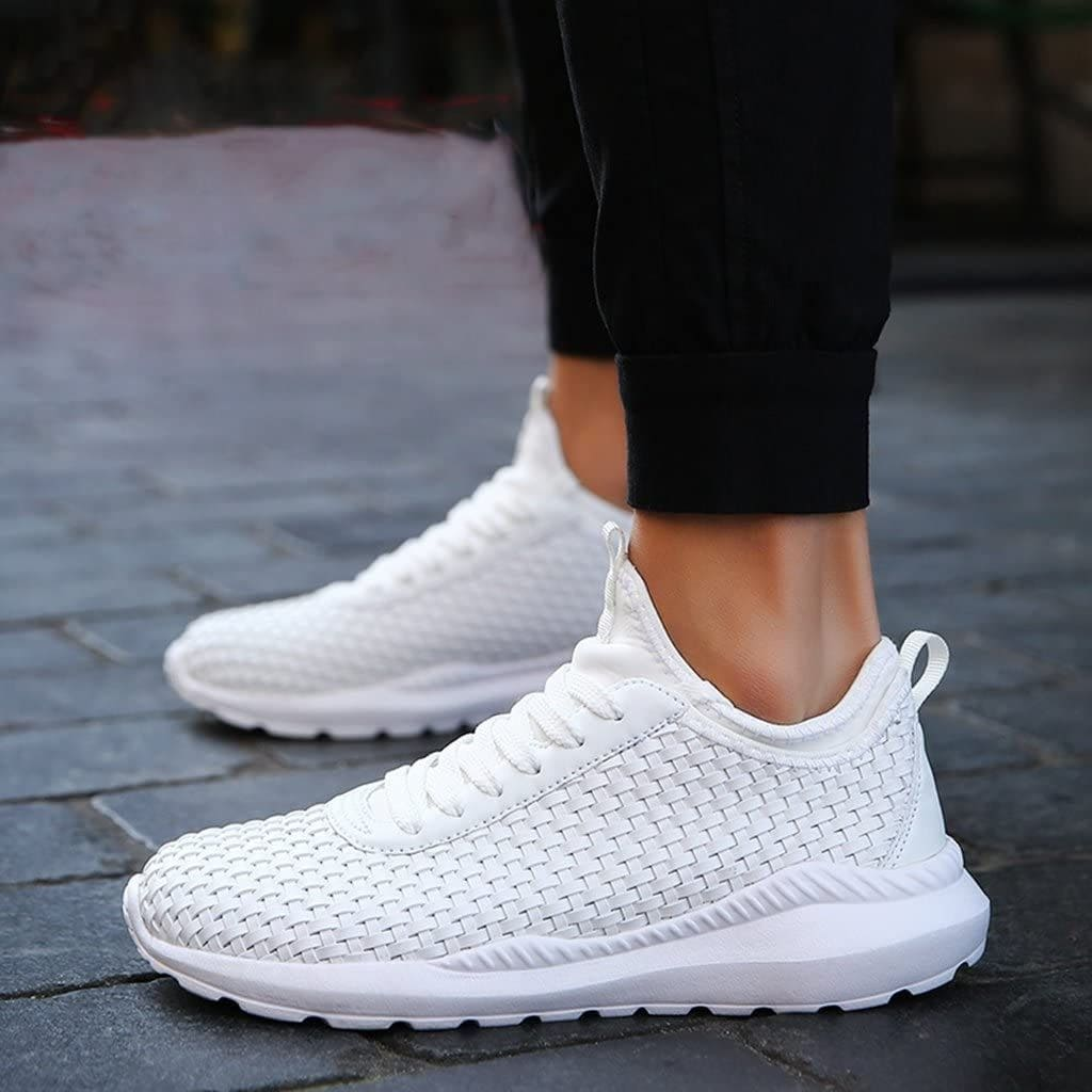 Sneakers coup de pied athlétiques chaussures sport blanches