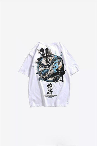 tee shirt serpent blanc