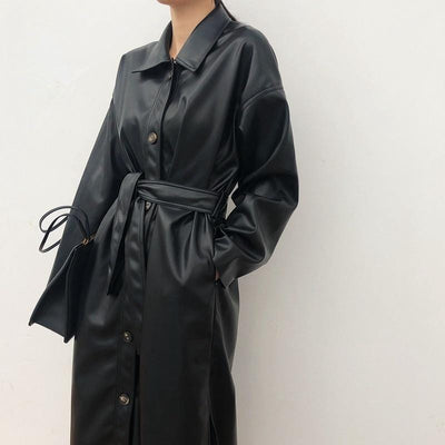 MANTEAU LONG LEATHER