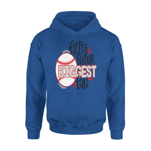 Baseball Little Sister Biggest Fan Hoodie