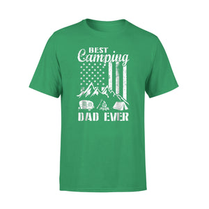 American Flag - Best American Camping Dad Ever T-Shirt