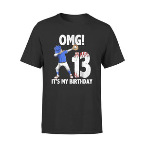 13 Year Old Birthday Dabbing Baseball T-Shirt