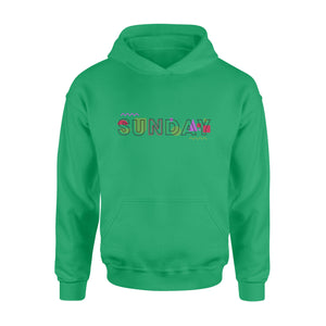 Sunday Geometric Style Seven-Day Of The Week Hoodie