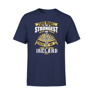 Mens Cotton Crew Neck T-Shirt - Sent Me To Ireland 01