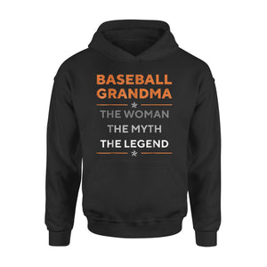 Baseball Grandma The Woman The Myth The Legend Funny Hoodie