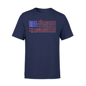 4th Of July Independence Music Note America Flag Premium T-Shirt