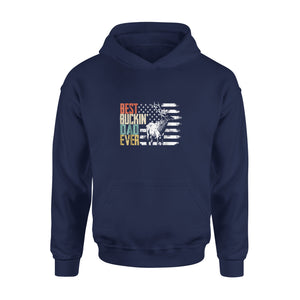 Best Buckin Dad Ever Retro Hoodie