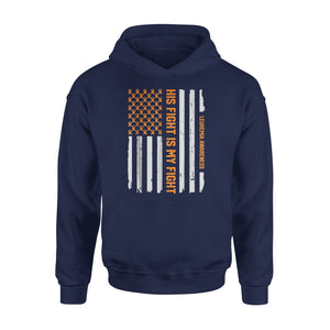 American Flag Leukemia Cancer Awareness Premium Hoodie