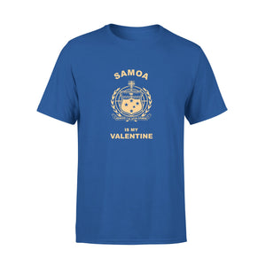 Men's Cotton Crew Neck T-Shirt - Samoa Is My Valentine 01