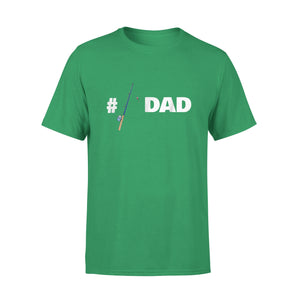 #1 Fishing Dad T-Shirt Fisherman Daddy Rod And Reel T-Shirt