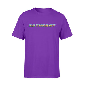 Saturday Light City The Seven-Day Of The  Week - Premium T-shirt