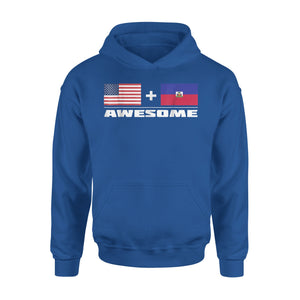 American + Haitian = Awesome Usa And Haiti Flags Premium Hoodie