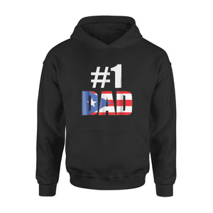#1 Dad Puerto Rico Fathers Day Holiday Hoodie