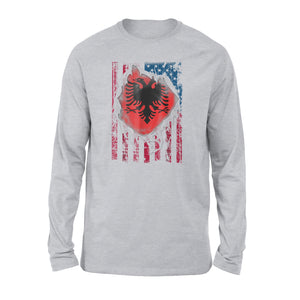 Albanian American Flag Premium Long Sleeve T-Shirt
