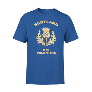 Mens Cotton Crew Neck T-Shirt - Scotland Is My Valentine 02