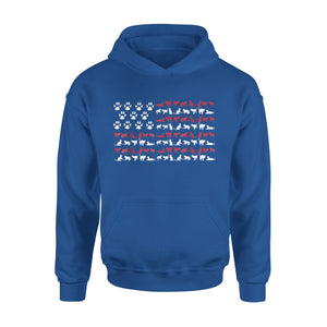 4th Of July Cat Meowica American Flag USA Premium Hoodie