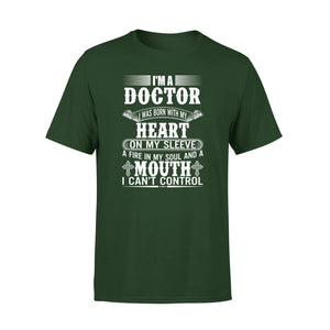 Mens Cotton Crew Neck T-Shirt - Im A Doctor