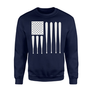 American Flag Usa Father's Day Baseball Dad Gift Sweatshirt