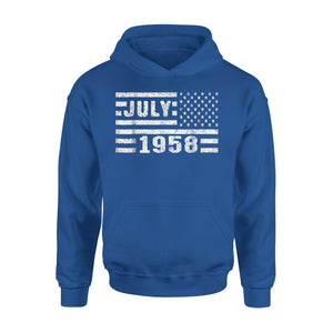 60th Birthday Gift Vintage July 1958 Premium Hoodie