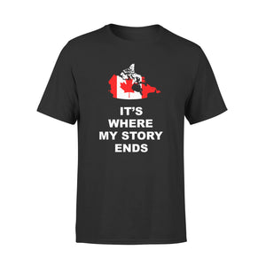 Mens Cotton Crew Neck T-Shirt - Canada Where My Story Ends 01
