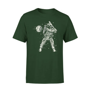 Astronaut Plays Baseball With Planet Funny Outer Space T-Shirt