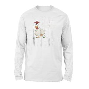 Chicken Whisperer Independence Day American Flag Shirt Premium Long Sleeve T-Shirt