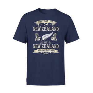 Mens Cotton Crew Neck T-Shirt - I May Not Live New Zealand 01
