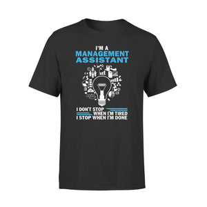 Mens Cotton Crew Neck T-Shirt - Im A Managemenst Assistant
