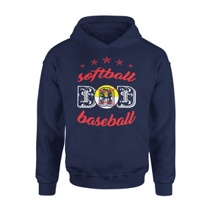Baseball And Softball Dad Hoodie