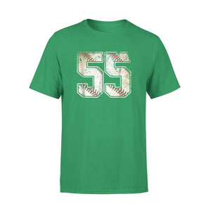 #55 Baseball Jersey Number 55 Retro Vintage T-Shirt