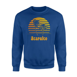 Acapulco Mexico Sunset Palm Trees Beach Vacation Sweatshirt