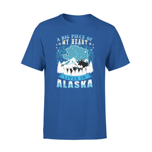 Mens Cotton Crew Neck T-Shirt - Lives In Alaska 01