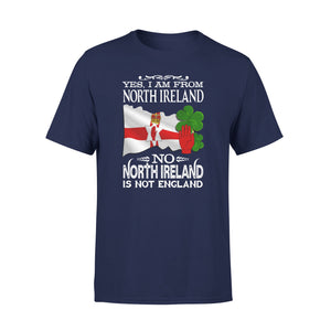 Mens Cotton Crew Neck T-Shirt - I Am From North Ireland 01