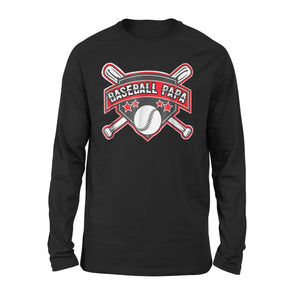 Baseball Dad Papa Father Long Sleeve T-Shirt