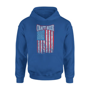 Craft Beer American Flag Home Brewing Gift Premium Hoodie