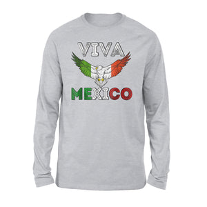 Camiseta Viva Mexico Mexican Independence Day Premium Long Sleeve T-Shirt
