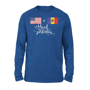 American + Moldova Mixed To Perfection Premium Long Sleeve T-Shirt