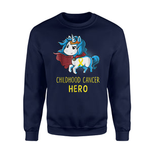 Childhood Cancer Survivor Unicorn Kid Son Daughter Sweatshirt