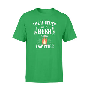 Camping Shirts Life Is Better With Beer And A Campfire T-Shirt