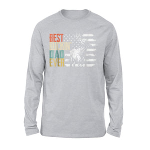 Best Buckin Dad Ever Retro Long Sleeve T-Shirt