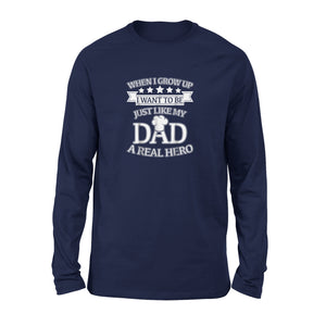 A Real Hero Chef Dad Baking Fathers Day Long Sleeve T-Shirt