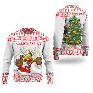 Trump Reindeer Drunk Christmas Sweater