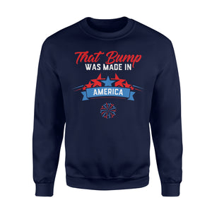 4th Of July Pregnancy Announcement For Dad To Be Men Sweatshirt
