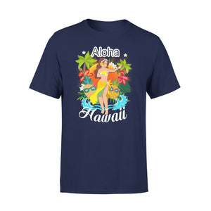 Mens Cotton Crew Neck T-Shirt - Aloha Hawaii 04