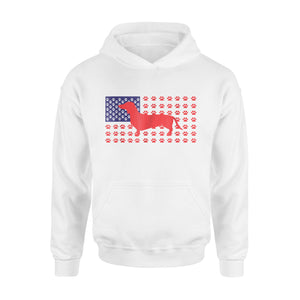 4th Of July Funny Dachshund American Flag Premium Hoodie